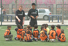 a team talk at Zhongguancun