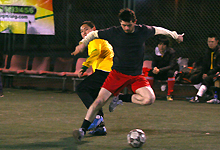 Action from the ClubFootball Midweek 5-a-side League